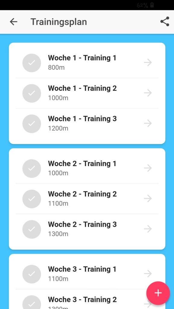 Trainingsplan Swim Coach
