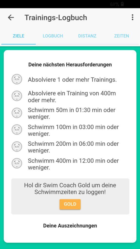 Logbuch Swim Coach
