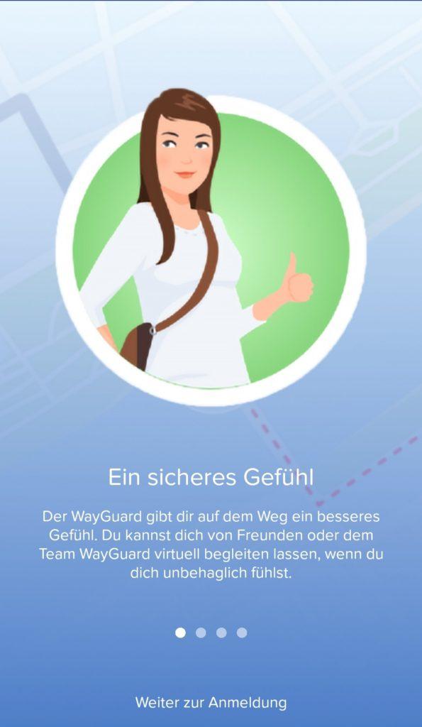 WayGuard ist eine kostenlose Begleit-App für Jung und Alt.