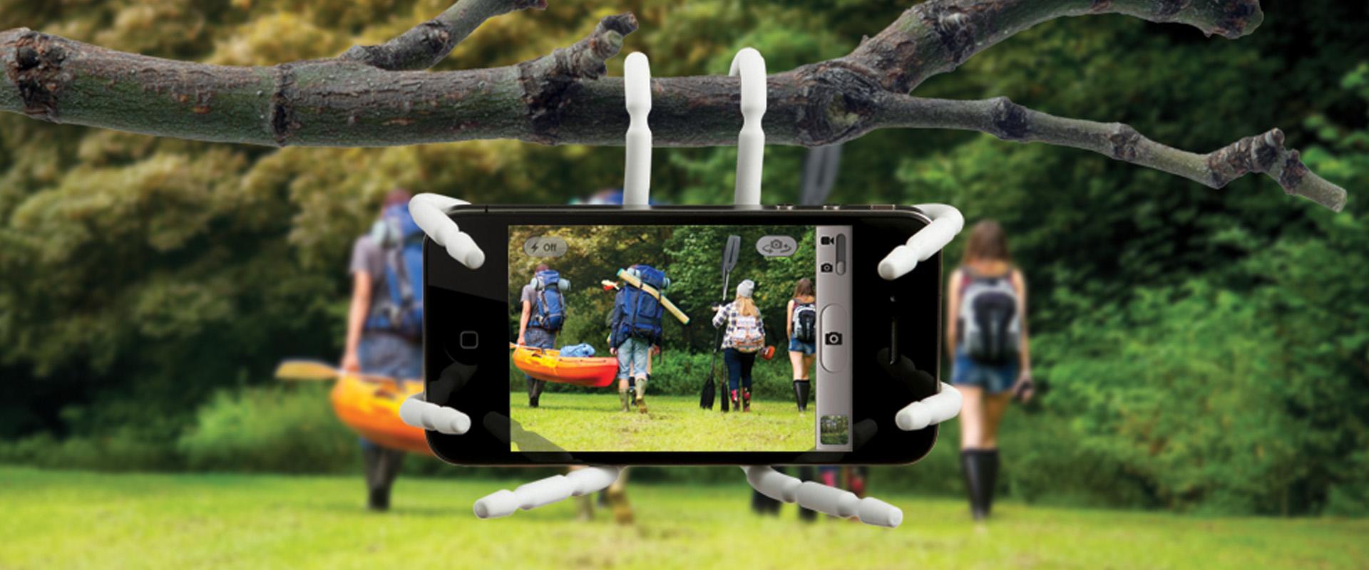 Permalink zu:Spiderpodium: Acht Beine für Handy & Tablet