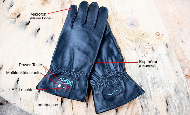 In wenigen Schritten sind die Handschuhe via Bluetooth mit dem Handy verbunden.