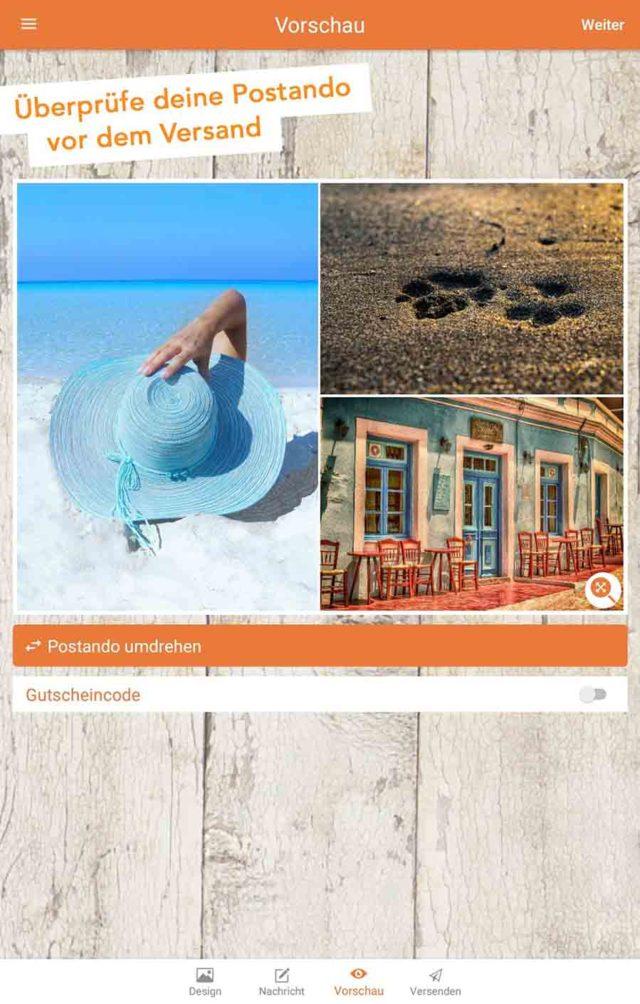 Postkarten App Postando